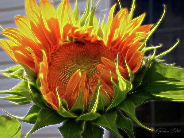 Digital Art - Glowing Sun by Jacqueline Sleter