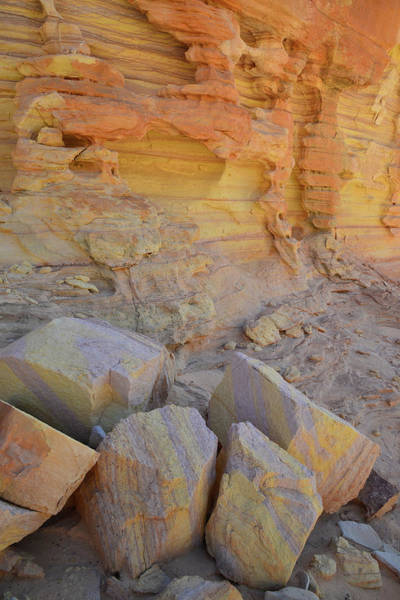 Photograph - Glowing Walls And Boulders Of Valley Of Fire by Ray Mathis