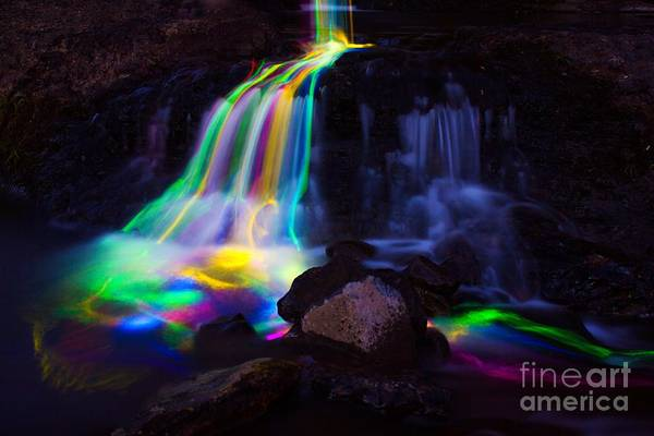 Photograph - Glowing Waterfall by Michael Cross