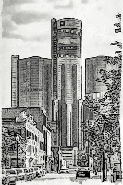 Wall Art - Photograph - Gm Building Detroit by Winnie Chrzanowski