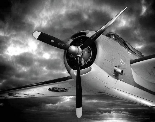 Photograph - Gm Tbm Avenger Black And White by Coleman Mattingly