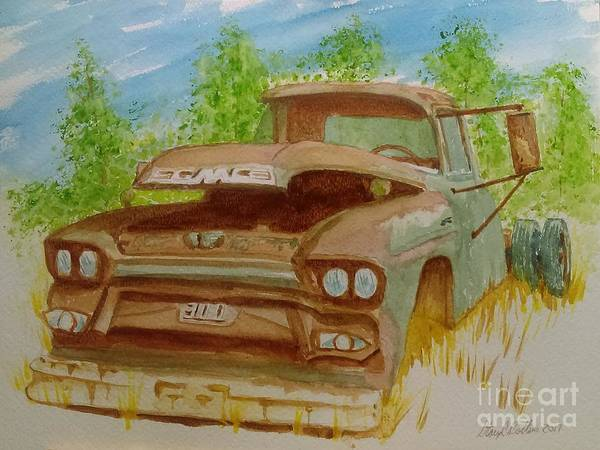 Oxidation Painting - Gmc 300 by Stacy C Bottoms