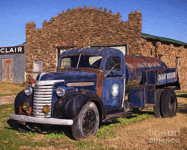 Painting - Gmc Tank Truck by Joe Sparks