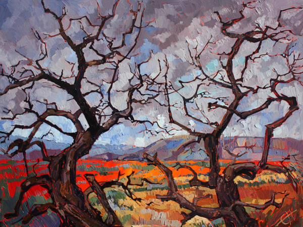 Red Rock Painting - Gnarled Oaks by Erin Hanson