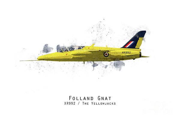 Wall Art - Digital Art - Gnat Sketch - Yellowjacks by J Biggadike