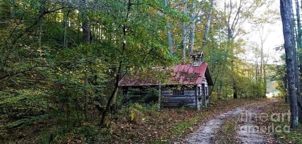Pioneer School Photograph - Gnawbone Indiana - One Room Schoolhouse  by Scott D Van Osdol