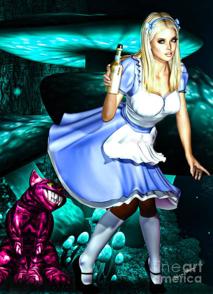 Digital Art - Go Ask Alice by Alicia Hollinger