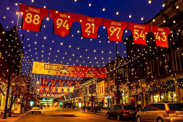 Photograph - Go Denver Broncos by Teri Virbickis