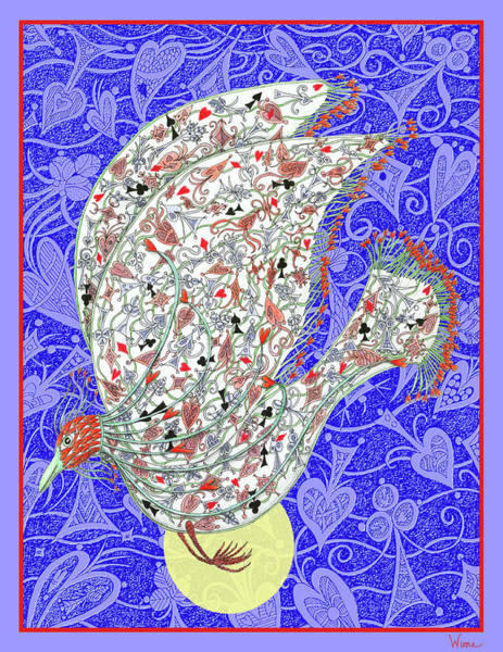 Digital Art - Go Fish, The Exotic Bird by Lise Winne