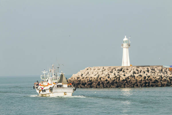 Work Boat Photograph - Go Fishing by Hyuntae Kim