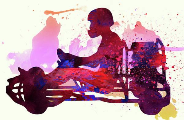 Sportsman Digital Art - Go-karting by Elena Kosvincheva