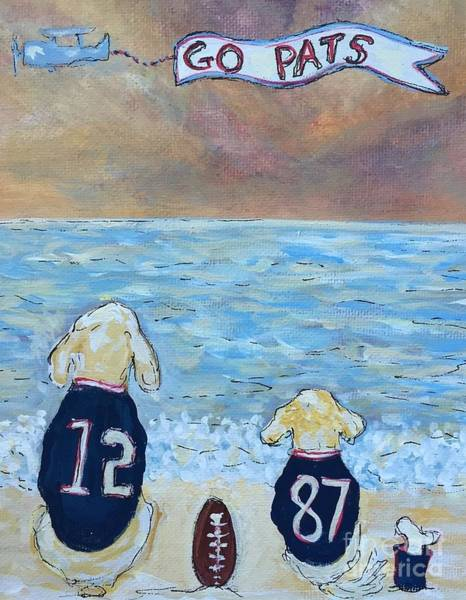 Painting - Go Pats  by Jacqui Hawk