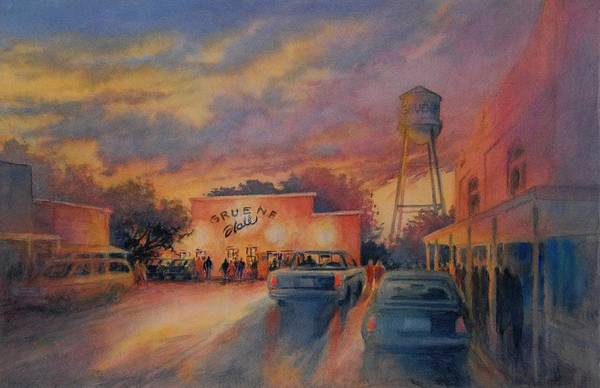 Townscape Wall Art - Painting - Go To Town Boot Scootin Boogie by Virgil Carter