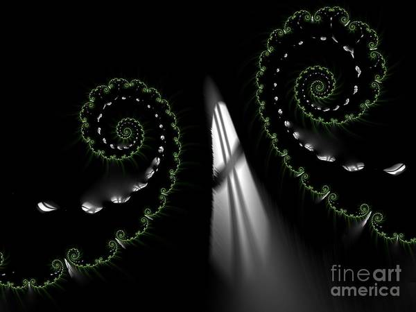 Digital Art - Go Towards Heavens Light Fractal Abstract by Rose Santuci-Sofranko