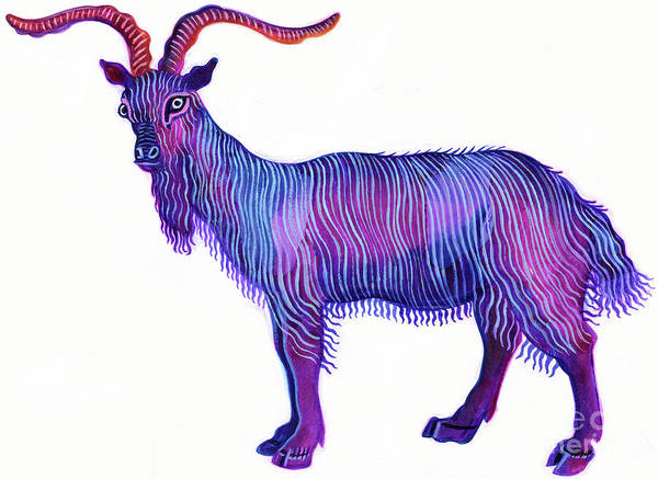 Constellation Painting - Goat Capricorn by Jane Tattersfield