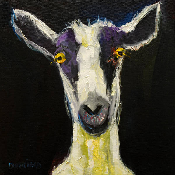 Wall Art - Painting - Goat Gloat by Diane Whitehead