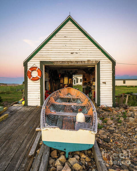 Wall Art - Photograph - Goat Island Boathouse by Benjamin Williamson