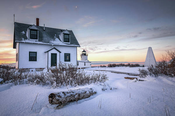 Photograph - Goat Island Light In Winter by Colin Chase