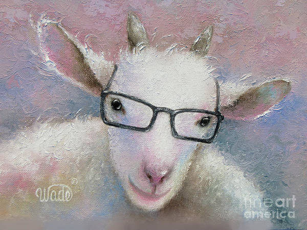 Wall Art - Painting - Goat Wearing Glasses by Vickie Wade