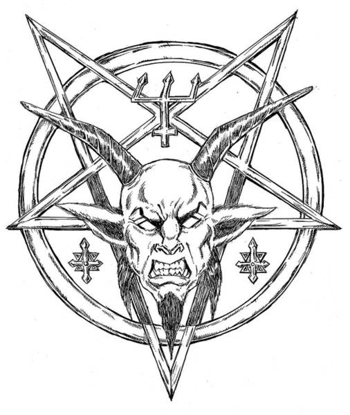 Demonic Drawing - Goatlord Logo by Alaric Barca