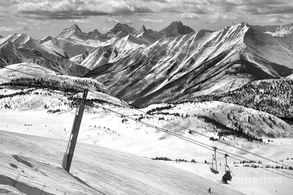 Photograph - Goats Eye Express Quad Black And White by Adam Jewell