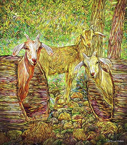 Digital Art - Goats Just Want To Have Fun by Joel Bruce Wallach