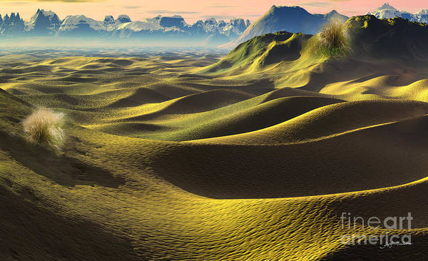 Wall Art - Digital Art - Gobi Desert - Dunes Land by Heinz G Mielke