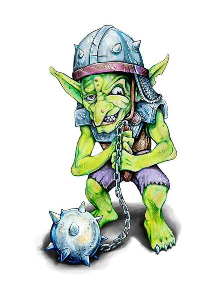 Drawing - Goblin by Aaron Spong