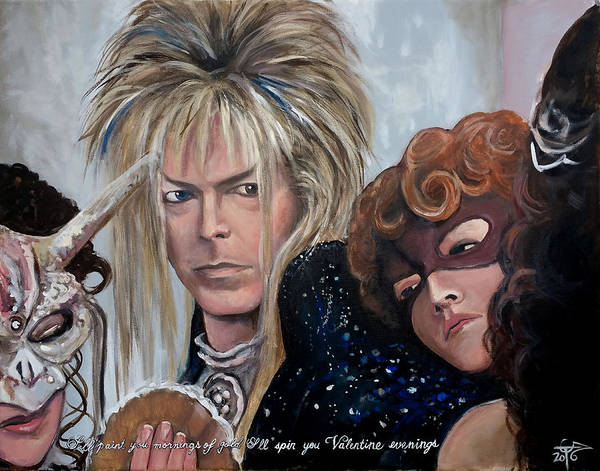 David Bowie Painting - Goblin King - Ball Room by Tom Carlton