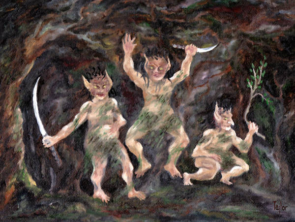Painting - Goblins Of Wyrvith Forest by FT McKinstry