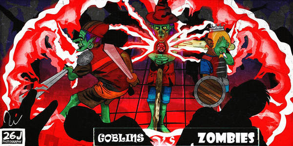 Versus Digital Art - Goblins Versus Zombies by Tim Wilson Jr