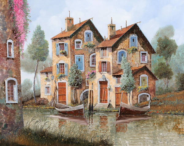 Wall Art - Painting - Gocce Sulle Case by Guido Borelli