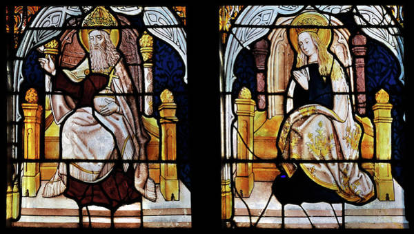 Glass Art - God And The Virgin Mary by Vassil