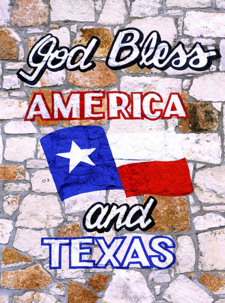 Photograph - God Bless America And Texas 2 by Marilyn Hunt