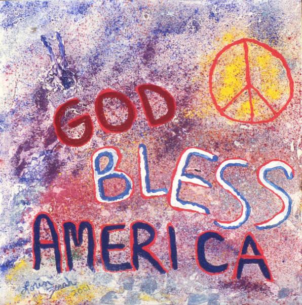 World War 11 Painting - God Bless America by Lorin Zerah
