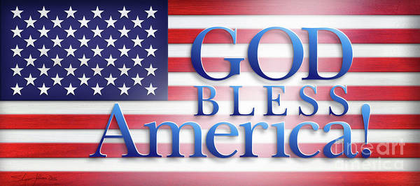 Mixed Media - God Bless America by Shevon Johnson