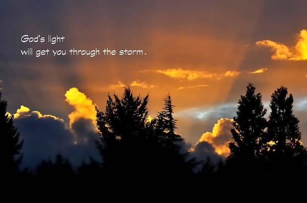 Photograph - God Light Fs 7088 by Jerry Sodorff