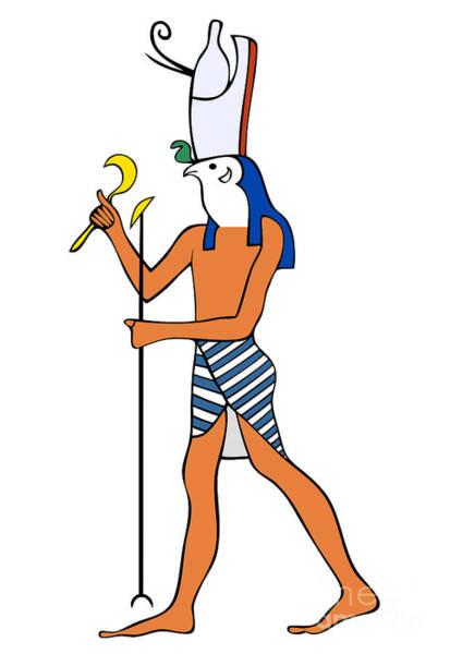 Relief Digital Art - God Of Ancient Egypt - Horus by Michal Boubin
