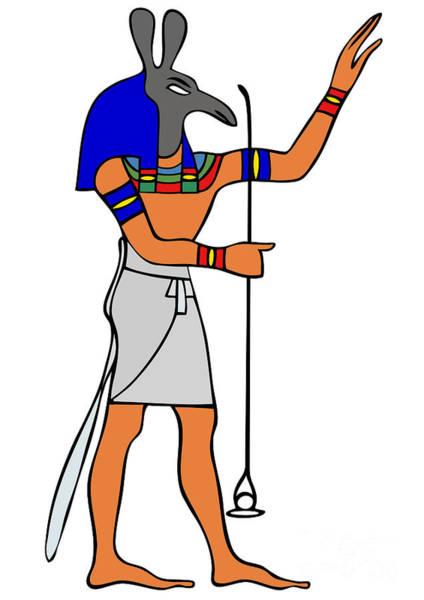 Relief Digital Art - God Of Ancient Egypt - Seth by Michal Boubin