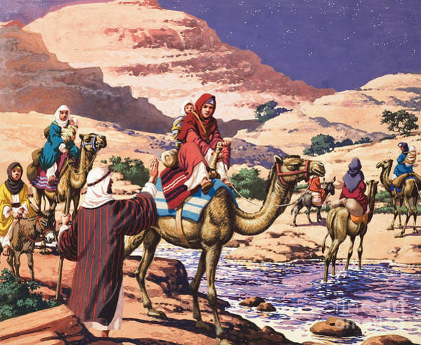Camel Rider Painting - God Speaks At Penuel by Pat Nicolle