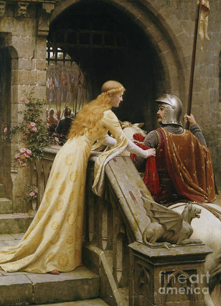 Maiden Wall Art - Painting - God Speed by Edmund Blair Leighton