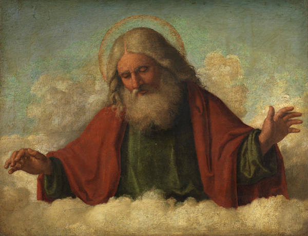 Wall Art - Painting - God The Father by Cima da Conegliano