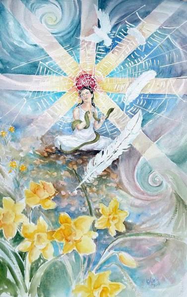 Painting - Goddess Awakened by Christie Martin