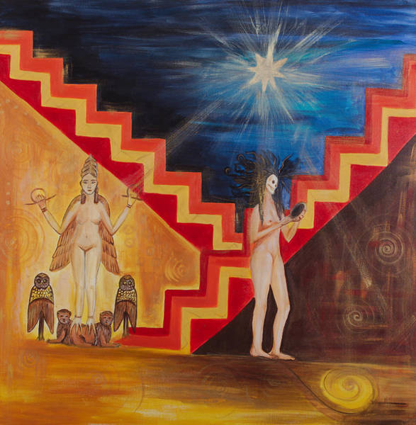 Initiation Painting - Goddess Inanna by Solveig Katrin