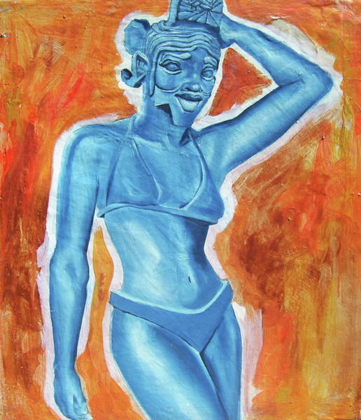 Wall Art - Painting - Goddess by Laura Pierre-Louis