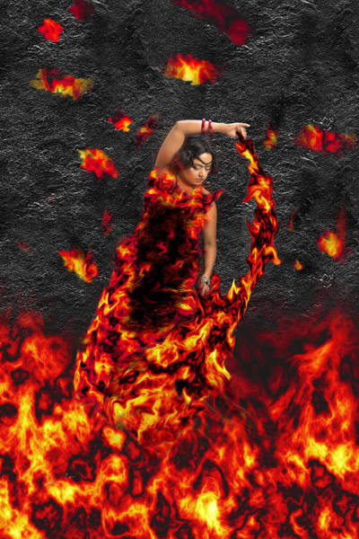 Photograph - Goddess Of Fire by Sharon Popek