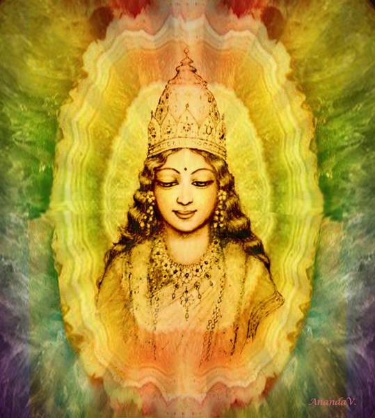 Wall Art - Mixed Media - Goddess Of Gems by Ananda Vdovic