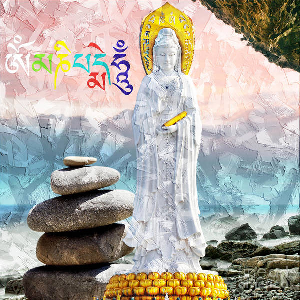 Mixed Media - Goddess Of Mercy by Lita Kelley