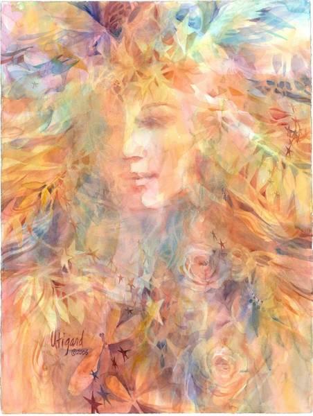 Painting - Goddess Of Summer by Carolyn Utigard Thomas