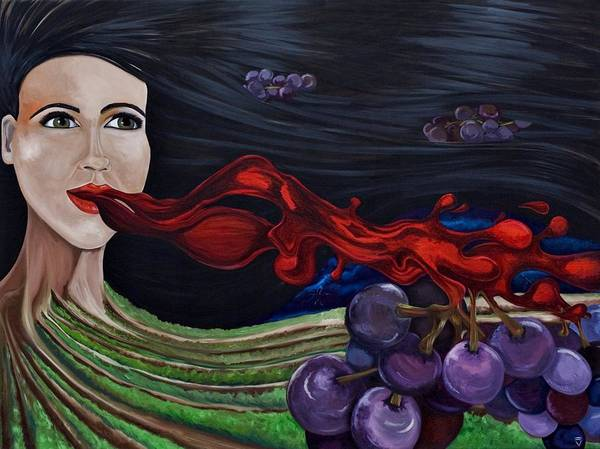 Wall Art - Painting - Goddess Of Wine by Victoria Dietz
